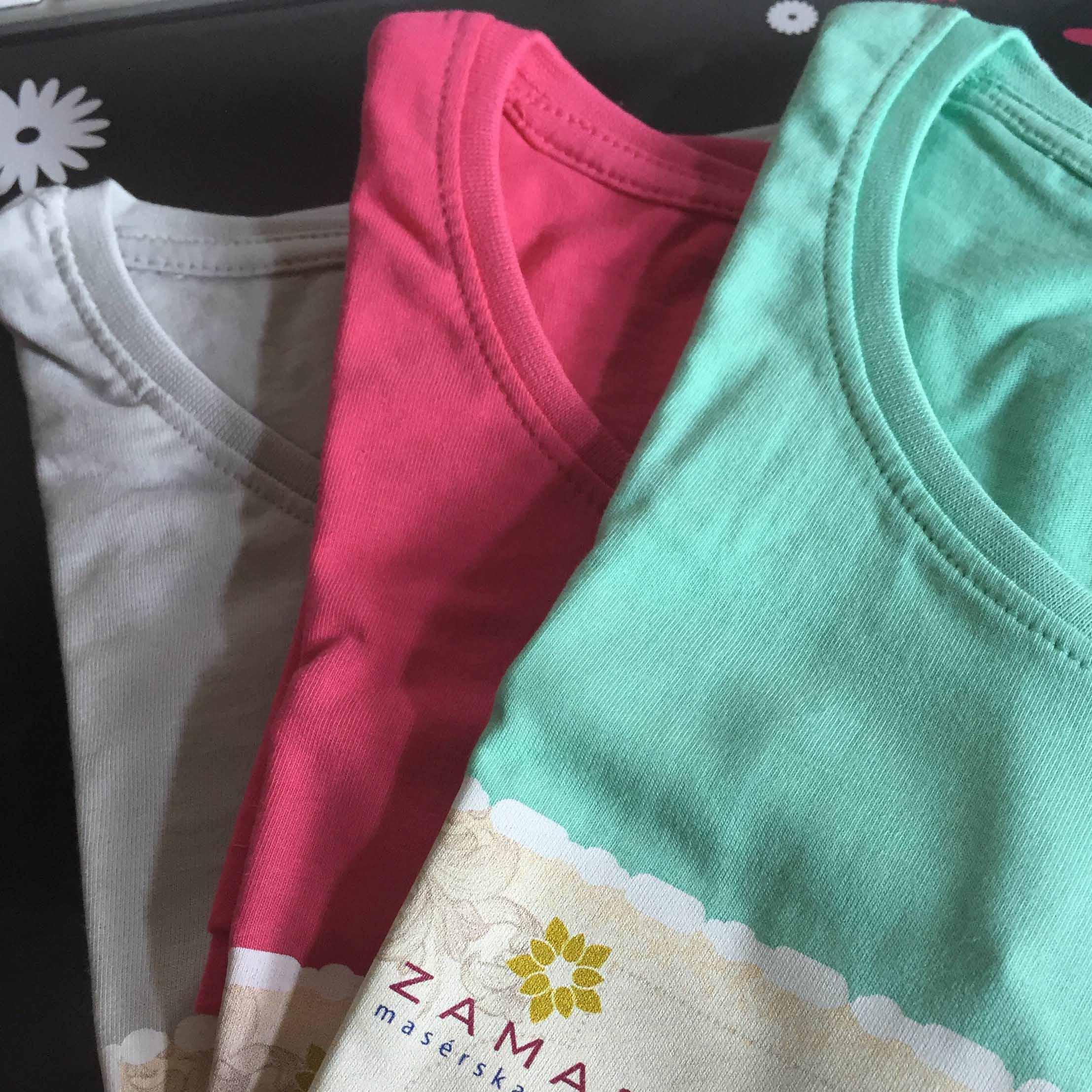 tričká dievčatá farebné