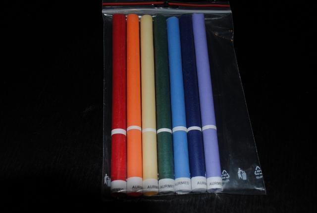 Čakrové sviečky farebné